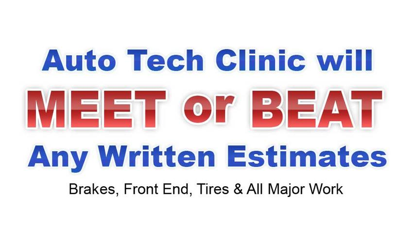 Autotech Clinic: We Meet or Beat Any Written Estimates